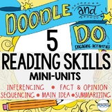 5 Doodle Notes and Activities Mini-Units - Reading Compreh
