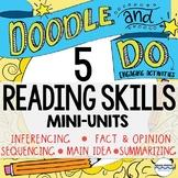 5 ELA Doodle Notes and Activities Mini-Units - Reading Com
