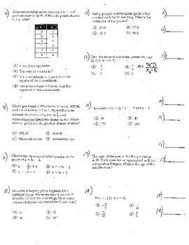 5 Double Sided Pre Alg Algebra 1 Probability Proportions Graphing Tax LOTS