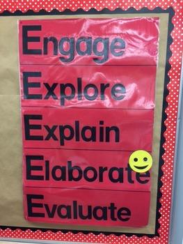 5 E Classroom Model Poster Freebie