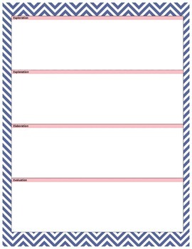 (PDF) 5E Learning Cycle Lesson Template - Navy/Pink Chevron