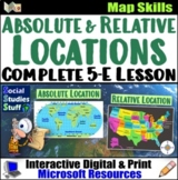 Absolute & Relative Location Lesson | Map Skills Activities | Distance Learning