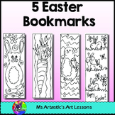 Easter Coloring Bookmarks