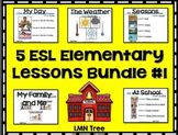 5 ESL Elementary Beginner Lessons Bundle #1