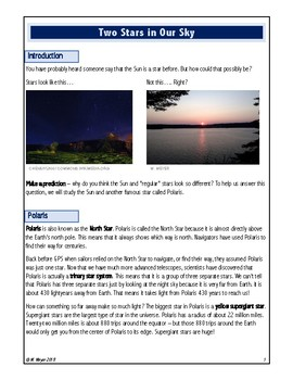 5.ESS1.1 Article - Two Stars in Our Sky