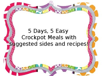 5 Easy Crockpot Dinner Recipes with Suggest Sides