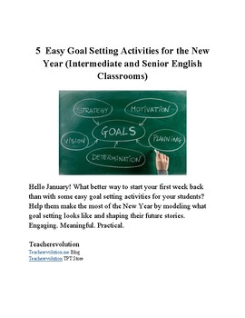 New Year's 2018: 5 Goal Setting Activities for an Easy January Start Up!