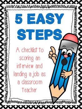 5 Steps: A Step by Step Guide to Getting a Teaching Job