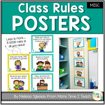 5 Easy to Follow Class Rules Posters