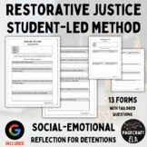5 Editable Detention Reflection Forms