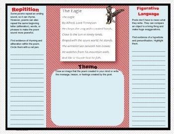 5 Elements of Poetry and Prose Trifold Activities