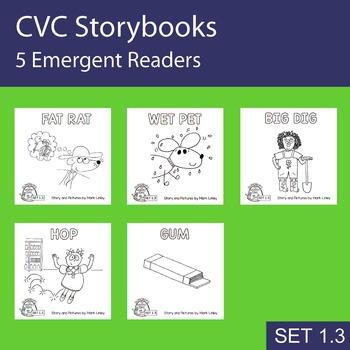 5 Emergent Readers ~ SET 1.3