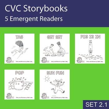 5 Emergent Readers ~ SET 2.1