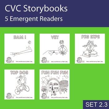 5 Emergent Readers ~ SET 2.3