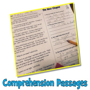 End of the Year Activities: 5 End of the Year Reading Comprehension Passages