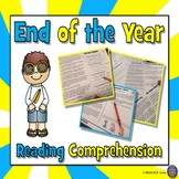 End of the Year Reading Comprehension, End of the Year Activities