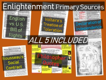 5 Enlightenment Primary Sources (with guiding questions and activities)