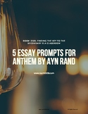 5 Essay Prompts for Anthem by Ayn Rand
