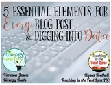 5 Essential Elements for Every Blog Post and Diving Into Data