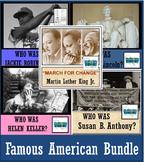 5 FAMOUS AMERICANS UNIT BUNDLE: Lincoln, M. L. King, Anthony, Robinson, Keller