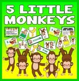 5 FIVE LITTLE MONKEYS NUMBER RHYME TEACHING RESOURCE MATHS EYFS KS1 ROLE PLAY