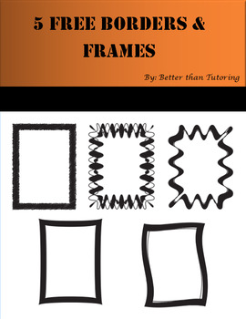 5 FREE *BOLD* Borders & Frames for Your Project