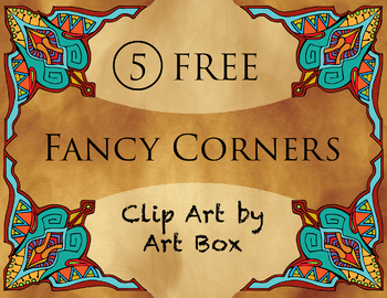5 FREE Fancy Corners Clip Art for Educational Professional and Personal Use