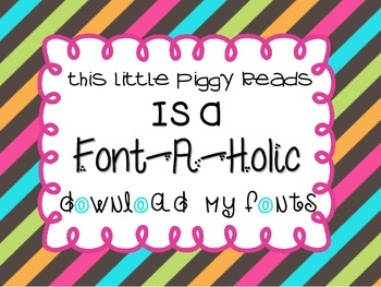 5 FREE Fonts- Please Use my Credit Button