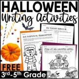 5 FREE Halloween Writing Activities | October Writing Less