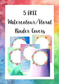 5 FREE Watercolour/Floral Binder Cover
