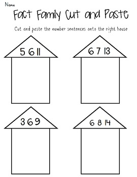 5 Fact Family Worksheets