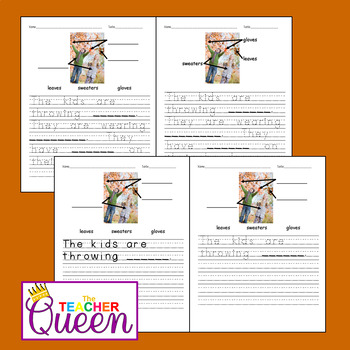 5 Fall/Autumn No-Prep, Differentiated Picture Prompts for Writing