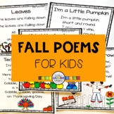 5 Fall Poems for Kids - Bundle