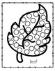 5 Fall Themed Dot Marker Printables - Apple, Pumpkin, Leaf, Squirrel, Acorn
