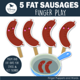 5 Fat Sausages Finger Play including PDF Patterns