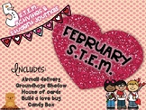 February STEM Valentines Day activities and student journal