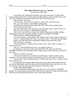 ELA Test Prep - Fiction Passages with Short and Extended Response Questions