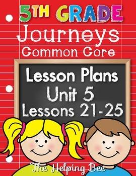 5th Fifth Grade CCSS Journeys LA Unit 5 Common Core 5 Week