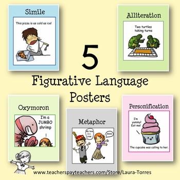 Figurative Language Posters - 5 FREE