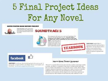 5 Final Project Ideas for ANY NOVEL