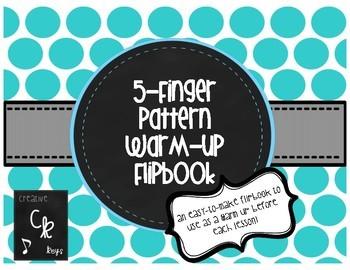 5-Finger Pattern Warm-Up Flip Book