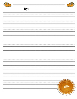 5 Finger Pumpkin Pie Story Organizer and Writing Paper