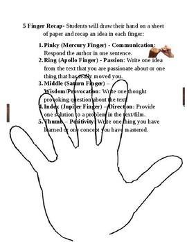 5 Finger Recap