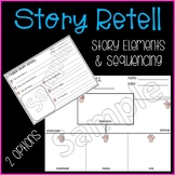 5 Finger Retell ~ Differentiated Story Element & Comprehension Graphic Organizer