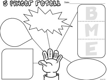 5 Finger Retell Graphic Organizer