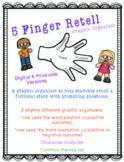 5 Finger Retell Graphic Organizer *Digital & Printable Versions