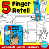 5 Finger Retell Graphic Organizers, Poster, and Bookmark