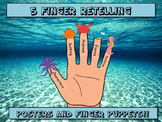 5 Finger Retell Posters and Finger Puppets - Underwater Sea Creature Themed!