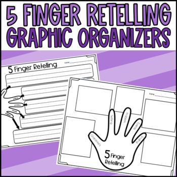 5 Finger Retelling Graphic Organizers Freebie!