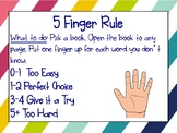 5 Finger Rule Posters